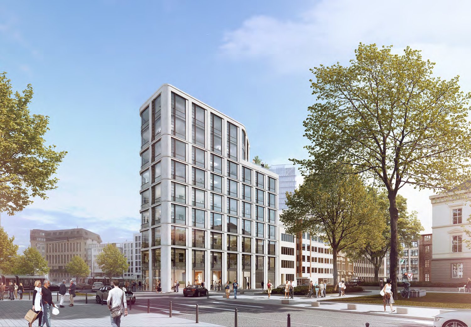 Current project: Demolition and construction of an office and retail property, Berliner Allee 21, Dusseldorf